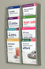 Wall Mounted Brochure / Leaflet Holder / Rack with 8 x A5 Portrait Pockets