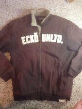 Mens Ecko unltd winter jacket coat xl Brown Thick Fleece Lined Ked