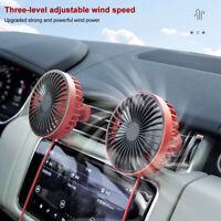 5W DC5V Car Fan USB Silent Air Conditioner Cooling Mini Fan For Large Truck