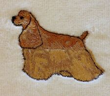 Cocker Spaniel Buff, Hand Towel, Embroidered, Custom, Personalized, Dog