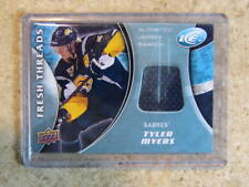 09-10 UD ICE Fresh Threads TYLER MYERS Jersey #FT-TM