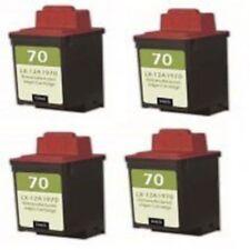 n°4 cartucce rigenerate lexmark 12A1970 nere graphic jet z11,z31,z42,z43,z52,z53