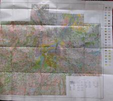 Color Soil Survey Map Saginaw County Michigan Chesaning Merrill Bridgeport 1938