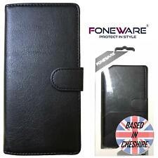 Foneware HTC Desire 650 Luxury Wallet Cover Flip Slim Book Case Card Slot Black