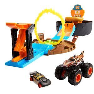 Hot Wheels Monster Trucks Stunt Tire Play Set For Kids Christmas Birthday Gift F