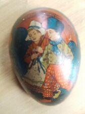Antique Victorian Easter tin egg - Litho Dutch Chidren