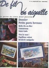 Magazine De Fil en Aiguille 20 Petits Ports Bretons - Point de Croix - 2001