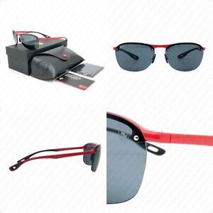 Ray Ban Scuderia Ferrari RB4302M F62387 62mm Red w/Grey Lenses Sunglasses