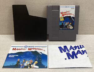Maniac Mansion with Manual & Poster (NES 1990) Tested Authentic Nintendo