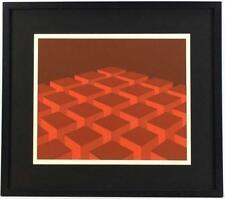 Marko Spalatin Geometric Serigraph Modern Art - Cube Room 20x23