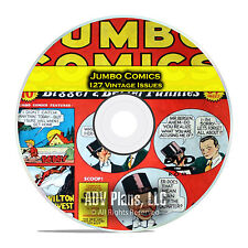 Jumbo Comics, Fiction House, 1930s-1950s, Vintage Golden Age Comics PDF DVD C80