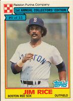Jim Rice 1984 Topps Ralston Purina #9 Boston Red Sox baseball card  HOF