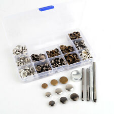 60 Sets Mix Size 12.5/15/17mm 3 Colors Snap Fasteners Press Studs Poppers Button