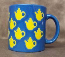 Waechtersbach Coffee Mug Cup Blue & Yellow Teapots Germany