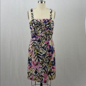 Banana Republic Silk Floral Convertible Dress Size 14