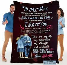 Personalized To My Wife You are My One and Only Love Quilt, Fleece Blanket