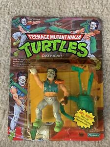 TMNT 1989 Teenage Mutant Ninja Turtles Casey Jones Figure MOC Sealed Pop Up RARE