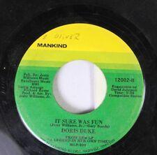 Soul 45 Doris Duke - It Sure Was Fun / If She'S Your Wife (Who Am I) On Nashboro