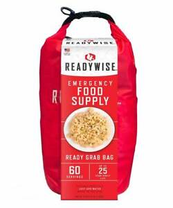 ReadyWise Emergency Food Ready Grab Bag 60 serves, 25 year shelf life