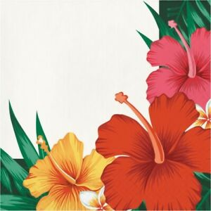 Tropical Flowers Lunch Napkins 16 Pack Luau Party Supplies Decorations