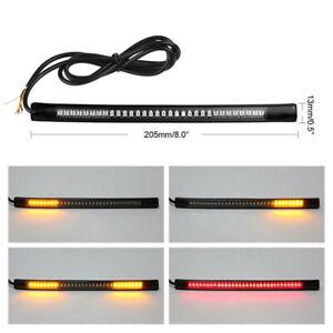 48 LED Flexible Motorcycle Light Strip Rear Tail Brake Stop Turn Signal Lamp Bar