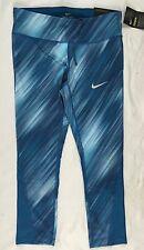 NIKE Power Women Capri Leggings Pants Dri-Fit 457 Blue 863714 Size XS