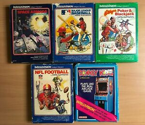 Boxed Intellivision games x 5 - tested and working