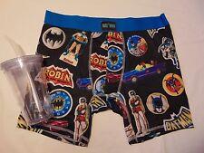 BATMAN Boxer Brief & Tumbler Gift SET Large NEW BioWorld L DC Comics