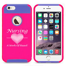 For iPhone SE 5 5s 6 6s 7 Plus Shockproof Impact Case Nursing A Work Of Heart