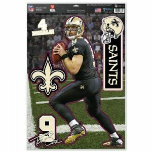 """DREW BREES NEW ORLEANS SAINTS MULTI-USE DECALS 11""""X17"""" LIKE A FATHEAD NFL"""