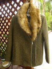 Zara Coat With Detachable Fur Collar NWT Size S