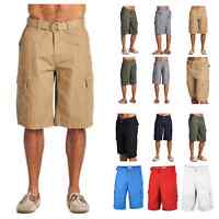 One Tough Brand Mens Cargo Shorts Belted Casual Hiking Workout Jogger Camping