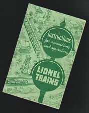 1951 INSTRUCTIONS For ASSEMBLING & OPERATING LIONEL TRAINS Manual / Booklet
