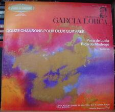 PACO DE LUCIA/RICARDO MODREGO/LORCA 12 CHANSONS POUR DEUX GUITARES FRENCH LP
