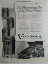 1919 Vitanola phonograph plays all records vintage music ad