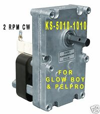 AUGER FEED MOTOR for GLOW BOY &  PELPRO STOVES - 2 RPM CW  [XP7002] -KS5010-1010