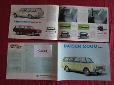 J.4052  / DATSUN 2000 wagon : dépliant english text 1967