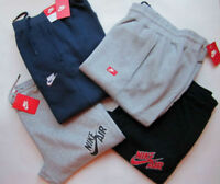 Nike Mens Sweat Pants Grey Black Tracksuit Jogging Fleece Bottoms Joggers S-XL
