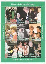 La principessa Diana Sly Stallone Steve Martin il Papa 1998 Gomma integra, non linguellato FRANCOBOLLO SHEETLET