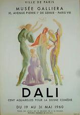 SALVADOR DALI AFFICHE LITHO - LA DIVINE COMEDIE - MUSEE GALLIERA MOURLOT 1960