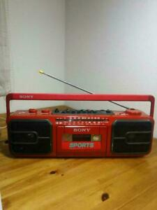 sony sports CFS-V75 Red boombox