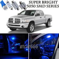 For Dodge Ram 1500 2002-2008 Blue LED Interior Kit + License Plate Light 8 Piece