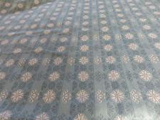 Blu Uovo d'anatra bianca fiocchi di neve artigianato Remnant tessuto materiale Pezzo 195x95cm