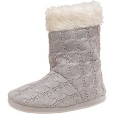 BENCH WOMENS BOOTIE SLIPPERS - GREY MARL – BNWT – SIZE 3-4