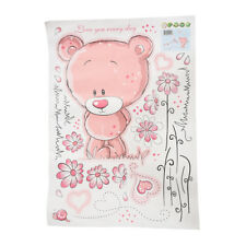 Rosa Orso carta da parati per camera da letto Wall Sticker scuola materna d N7Y8