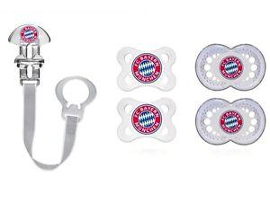 FC Bayern München  SCHNULLER NUCKEL oder Clip Neu jetzt alle Größen 0-16+