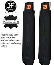 Bleu coutures 2x ceinture en cuir tige couvre fits JEEP WRANGLER YJ 87-90