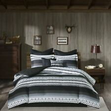 SALE!!!Woolrich  Reversible  Mink To Berber Rooftop/Grey King Mini Comforter Set