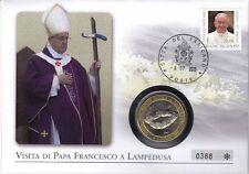 Vaticano NUMISBRIEF/medaglie lettera Papa Francesco San Francesco a Lampedusa 2013