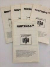 N64 X5 GAME  LEAFLETS